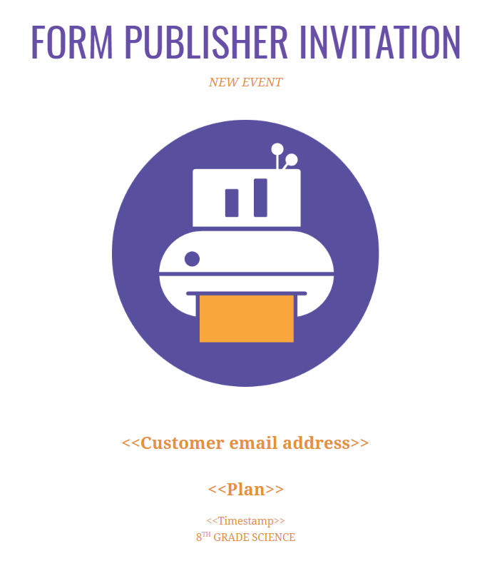 Invitation template Form Publisher