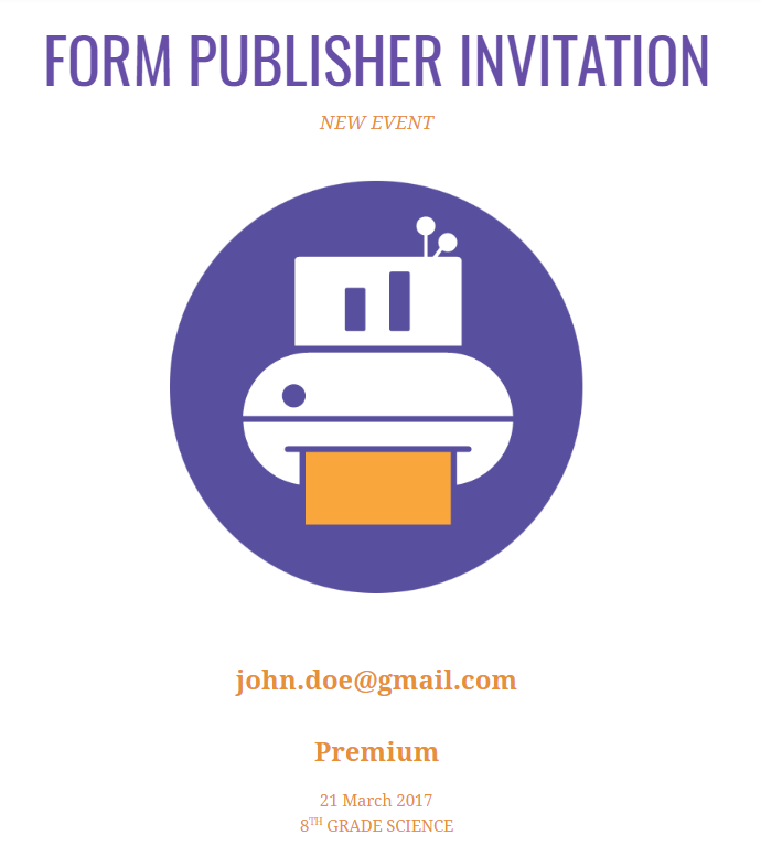 Invitation Form Publisher