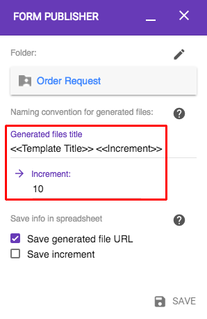 choose a relevant title for each file created documentation form