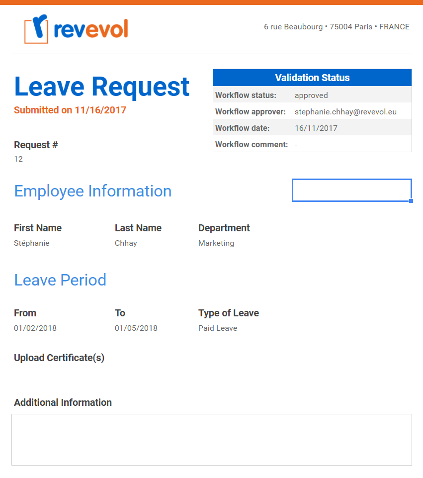 Timer 10 Min.  Example Of Leave Form
