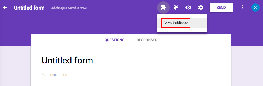 Form Publisher installed