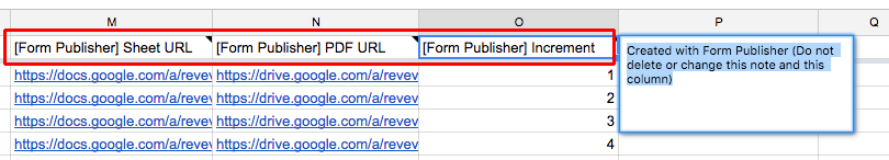 Form Publisher generate PDF
