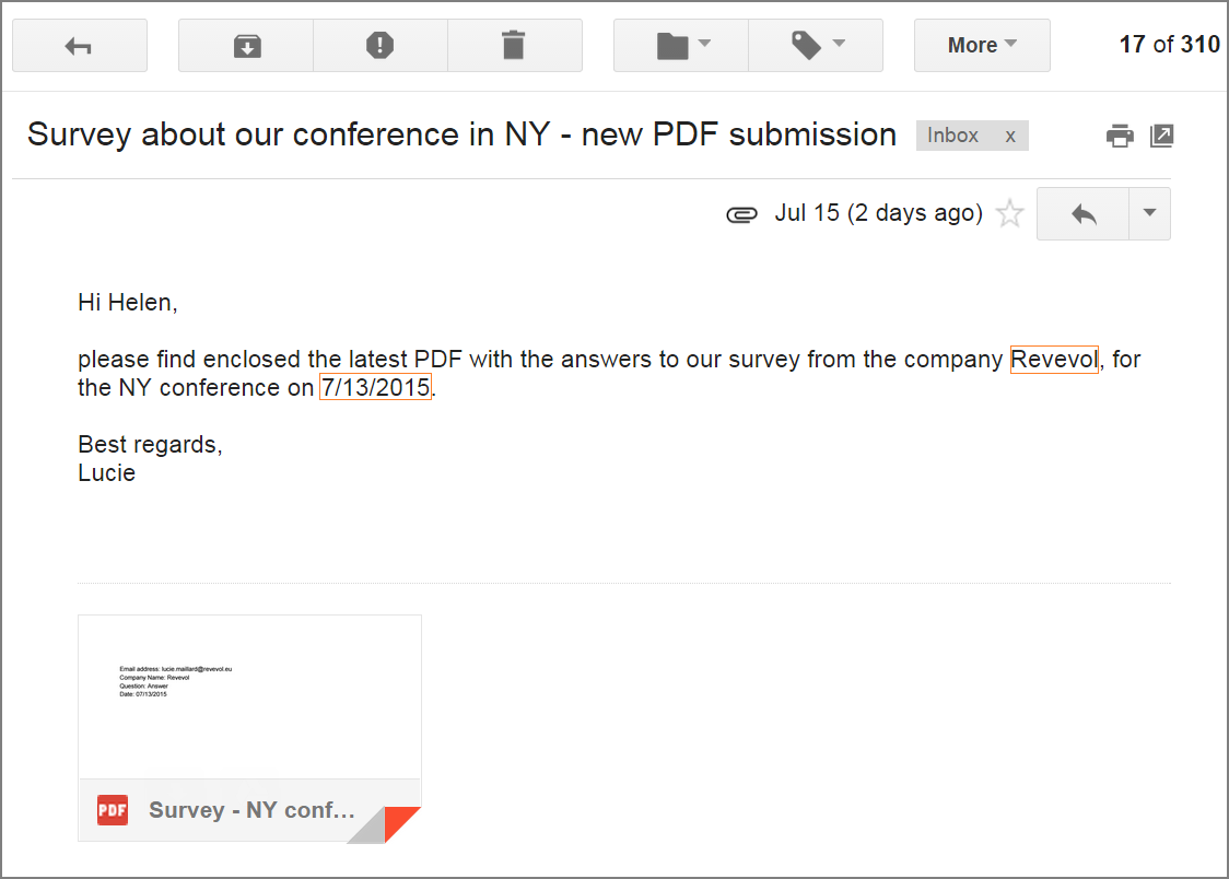 Form Publisher YAMM email example