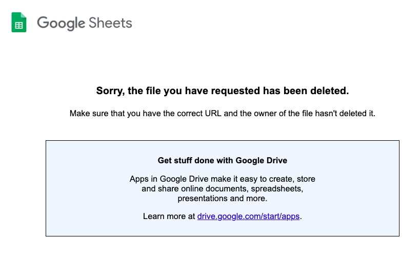 Deleted file on Google Drive