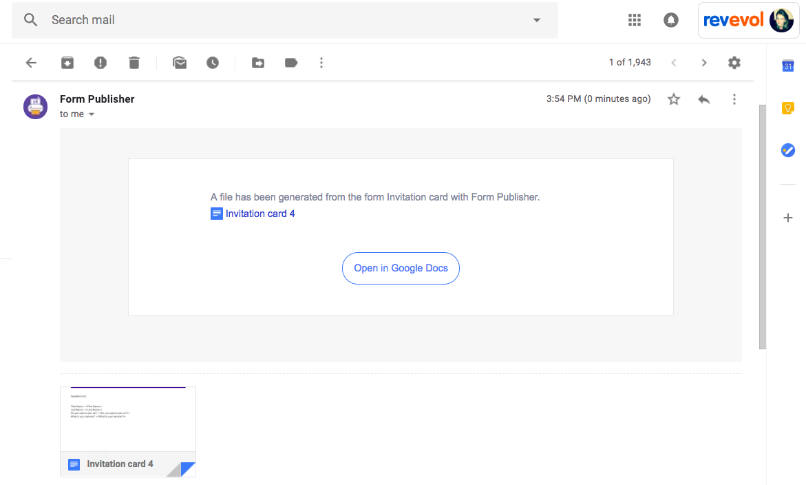Generate multiple documents with one Google Form – Documentation
