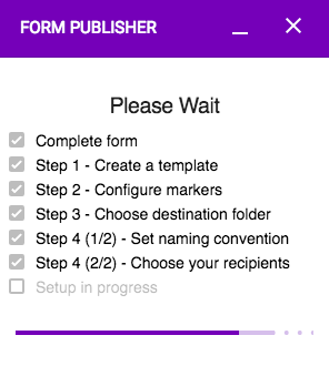 Automatically configure Form Publisher