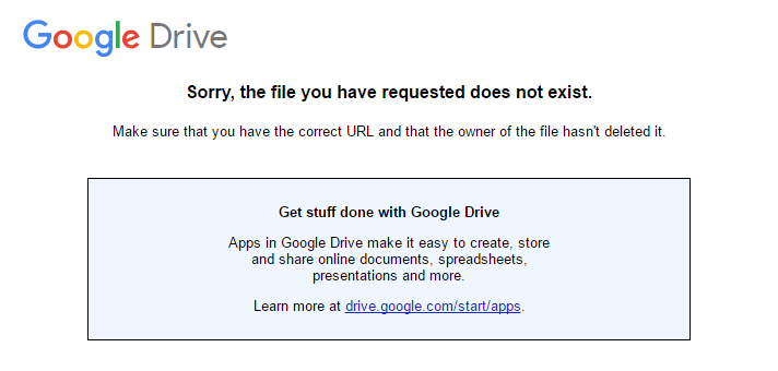 File does not exist Drive