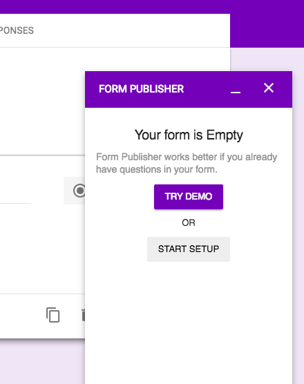 Try demo form publisher